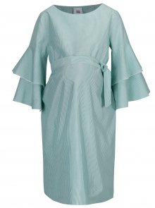 Zeleno-bílé pruhované těhotenské šaty s páskem Mama.licious Nelia