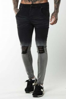 Ripped Jeand Dipped Black Illusive London L