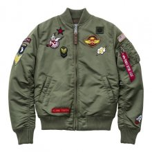 Bomber Patches Green Ma-1 Vf Women L