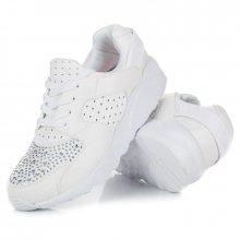 Sportovní bílé tenisky s kamínky