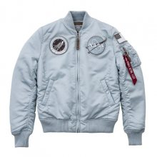 Bomber Patches Light Grey Ma-1 Vf NASA Women M