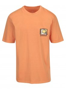 Oranžové pánské tričko s potiskem na zádech Quiksilver