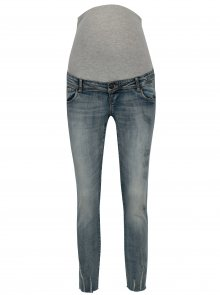 Světle modré těhotenské slim džíny s vyšisovaným efektem Mama.licious Sienna