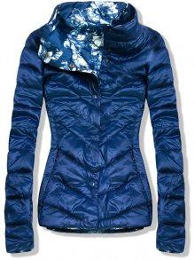 Modrá oboustranná jarní bunda