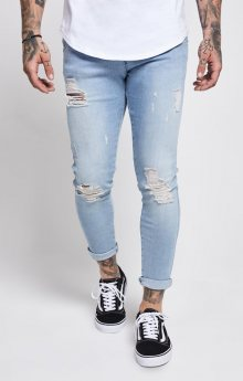 Ripped Jeans Light Blue Sik Silk M