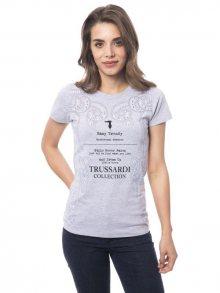 Trussardi Collection Dámské tričko D34TRC10033_Grigio ch./Lt Grey