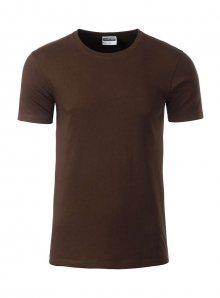 Pánské tričko Organic JN - Hnědá M