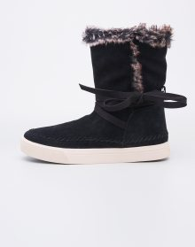 Toms Vista Black Waterproof Suede / Faux Fur 37