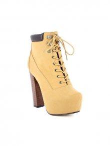 Zaza Pata Kotníkové boty na podpatku 872798-CAMEL