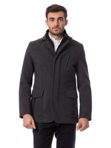 Trussardi Collection Pánský kabát U25TRC0024_Gri Md/Md Grey\n					\n