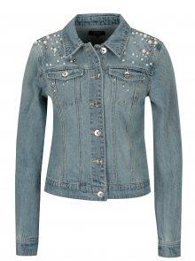 Modrá džínová bunda s korálky ONLY Chris