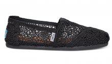 TOMS Alpargatas Black Moroccan Crochet černé 10007853