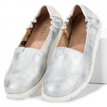 Luxusní stříbrné baleríny s gumičkou