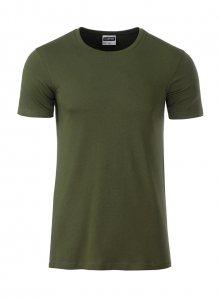 Pánské tričko Organic JN - Olivově zelená XL