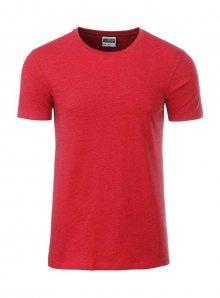 Pánské tričko Organic JN - Červená L