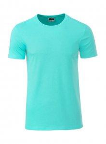 Pánské tričko Organic JN - Mentolově zelená XL