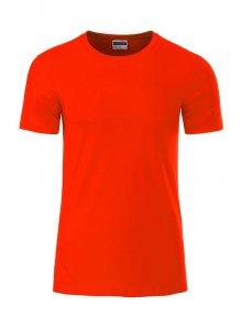 Pánské tričko Organic JN - Růžovočervená M