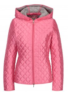 Růžová dámská prošívaná lehká bunda Geox
