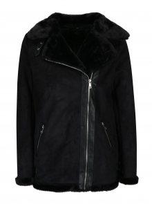 Černý zimní křivák v semišové úpravě s umělým kožíškem Dorothy Perkins