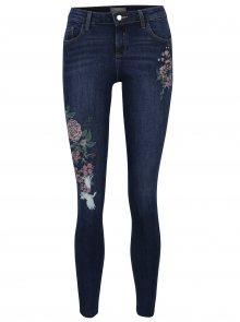 Modré ultra soft džíny s výšivou Dorothy Perkins