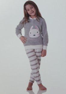 Dívčí pyžamo Cotonella DB246 3/4 ŠedáEA