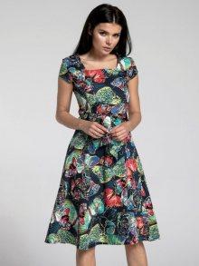 Naoko Dámské šaty AT173_BUTTERFLIES_NAVY