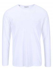 Bílé tričko s dlouhým rukávem Selected Homme Pima Florence