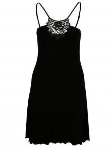 Černá noční košilka s krajkou ve výstřihu Eldar Gaja