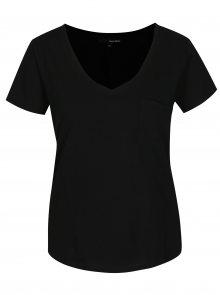 Černé tričko s kapsou TALLY WEiJL