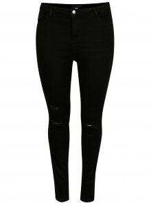 Černé skinny džíny s potrhaným efektem Dorothy Perkins Curve