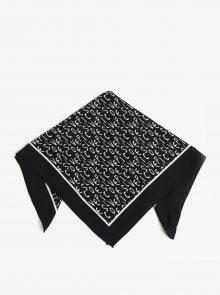 Černý vzorovaný šátek Pieces Mia