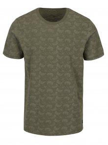 Zelené vzorované tričko s krátkým rukávem Jack & Jones Vincer