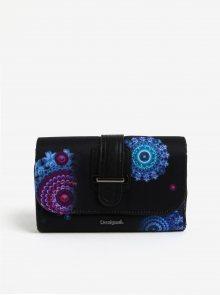 Černá velká peněženka s ornamenty Desigual Bollywood Lengüeta