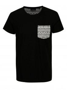 Černé pánské tričko s potiskem na kapse Broadway Gustafson