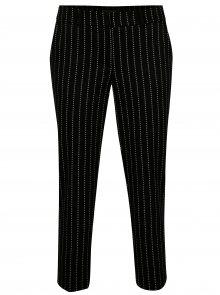 Černé zkrácené vzorované kalhoty Dorothy Perkins