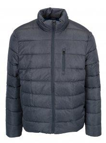Modrá žíhaná prošívaná zimní bunda Burton Menswear London