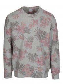 Šedá květovaná mikina Burton Menswear London