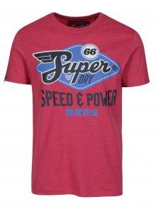 Růžové tričko s potiskem Superdry Classic