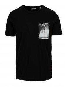 Černé tričko s potiskem ONLY & SONS Stuart