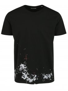 Černé tričko s potiskem na zádech Shine Original