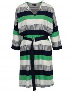 Zelené pruhované dámské šaty s páskem Broadway Audry