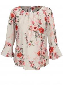 Růžovo-bílá květovaná halenka Billie & Blossom