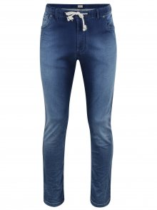 Modré regural fit džíny s elastickým pasem JP 1880