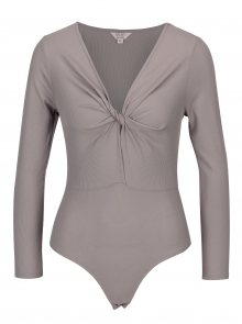 Šedé žebrované body Miss Selfridge Petites