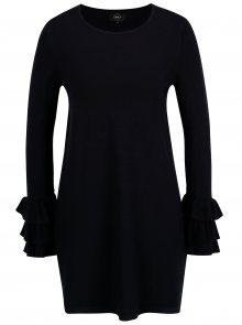 Tmavě modré svetrové mini šaty s volány ONLY Ginny