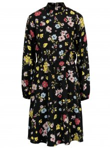 Černé květované šaty Selected Femme Florisa