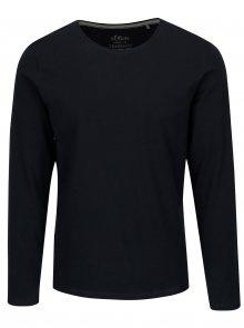Tmavě modré pánské slim fit basic tričko s.Oliver