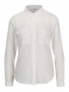 Krémová průsvitná košile s kapsami TALLY WEiJL