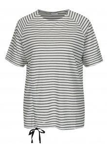 Krémové pruhované tričko Jacqueline de Yong Buzz