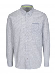 Bílá pánská vzorovaná slim fit košile s náprsní kapsou s.Oliver